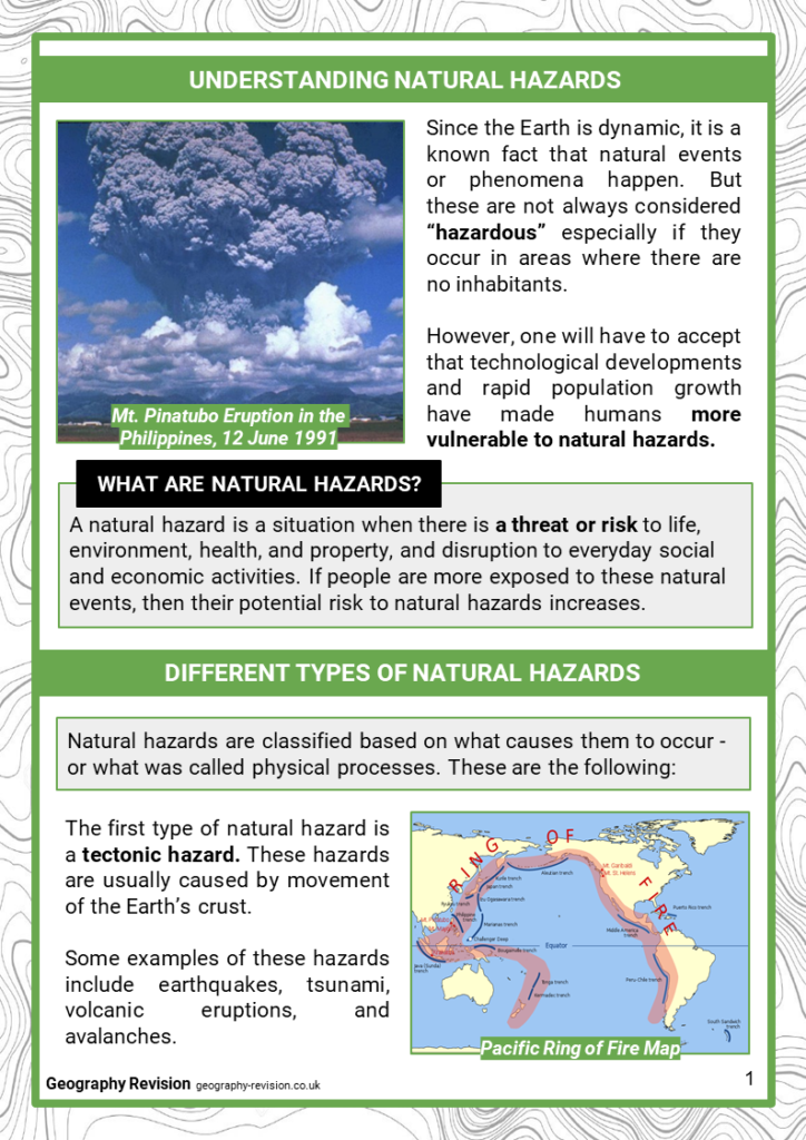 Geography Revision_Topic 1_Natural Hazards_ Intro_Revision Notes