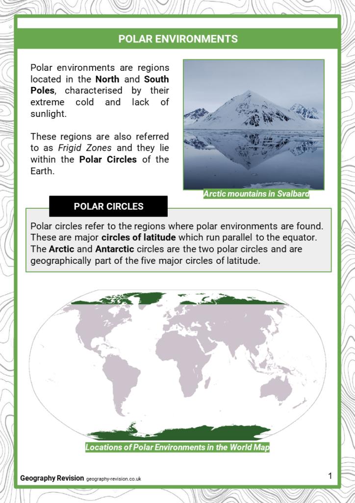 Polar Environments - Revision Notes 1