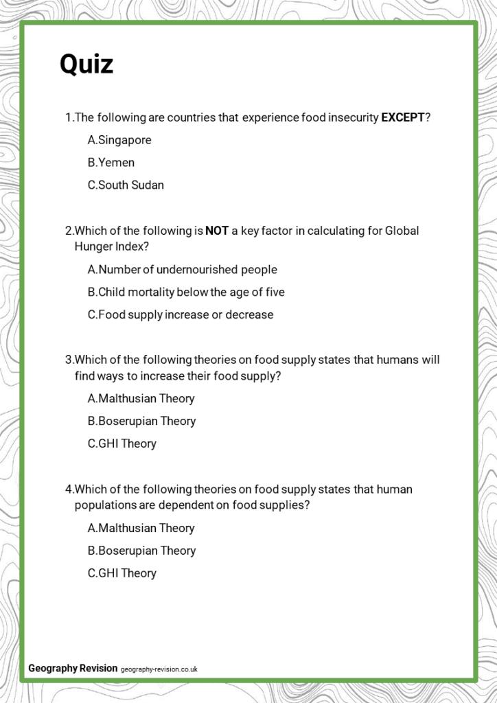 Resource Management_ Food - Quiz