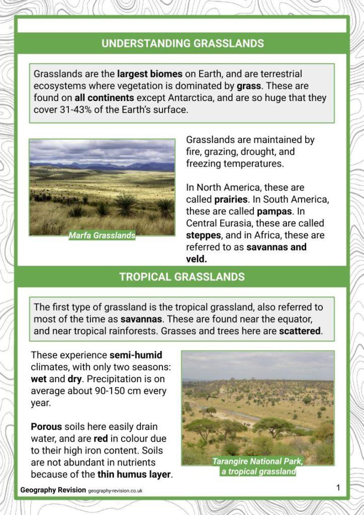 Grasslands - Revision Notes(1)