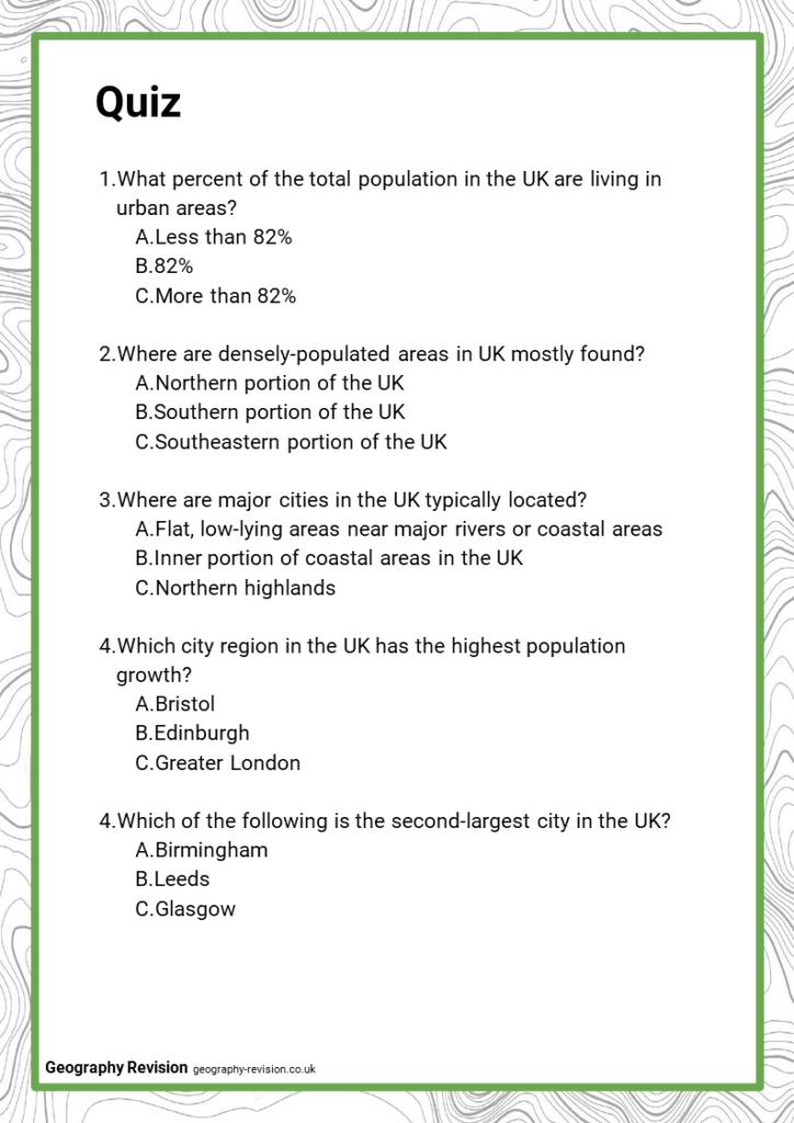 Quiz_Topic 7.2_Urban Challenges in UK