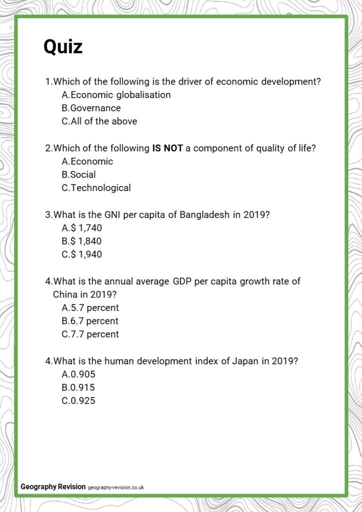 Quiz_Topic 8_Economic World