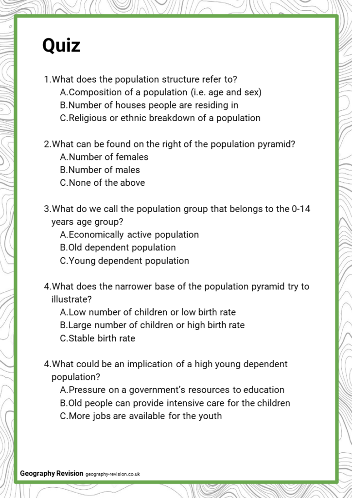 Quiz_Topic 9.2_Population Structure, Density, and Settlements