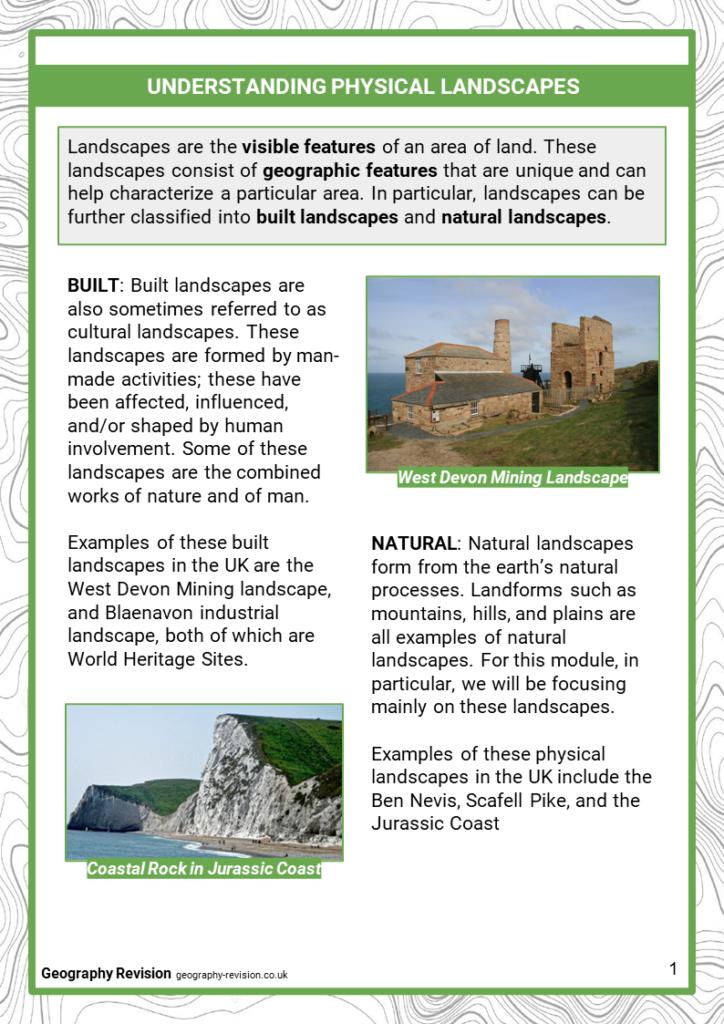 UK Physical Landscapes - Revision Notes 2