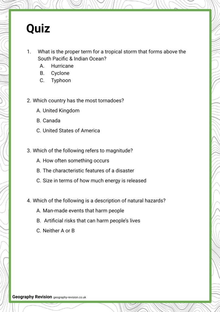 Global Hazards_ Intro - Quiz