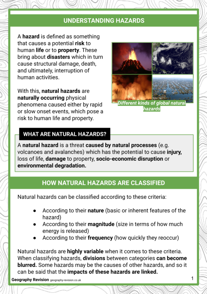 Global Hazards_ Intro - Revision Notes